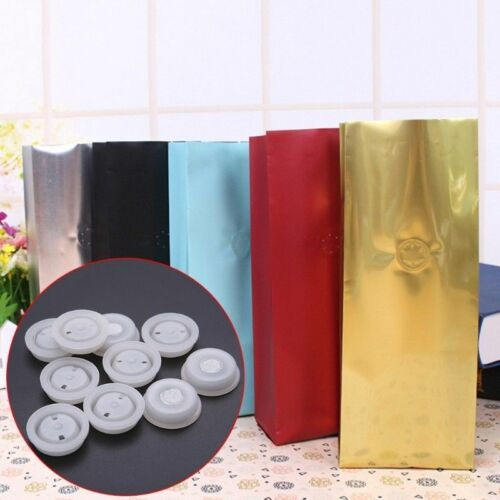 25X One-way Degassing Filter PE Valve Exhaust Ventilation Vent Coffee Food Bag