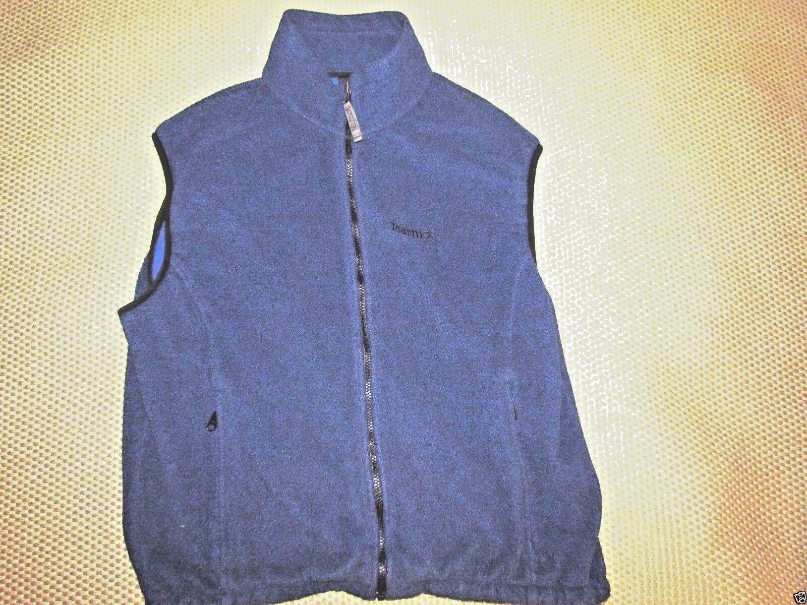 MARMOT - Pile Fleece POLARTEC Men's size Large Vest - bluee in color