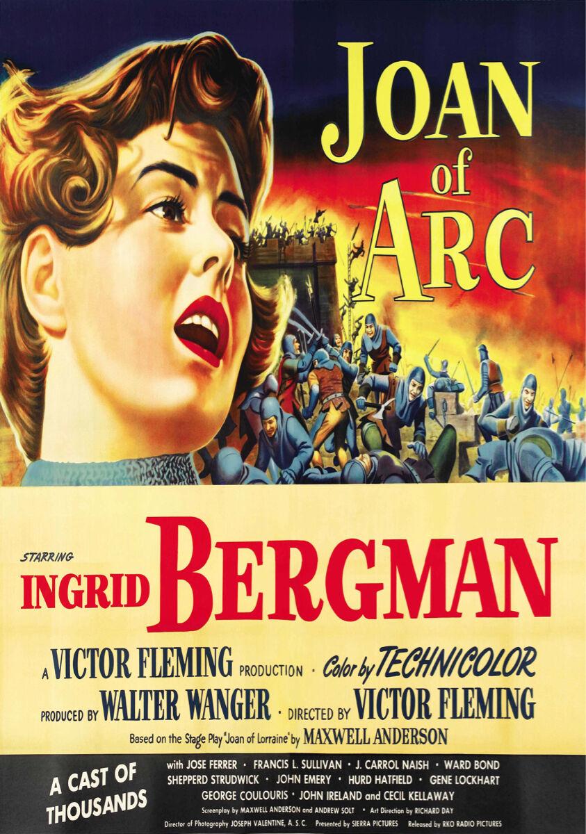 16x20  CANVAS Decor.Room design art print..Joan Arc movie.Ingrid Bergman.6144