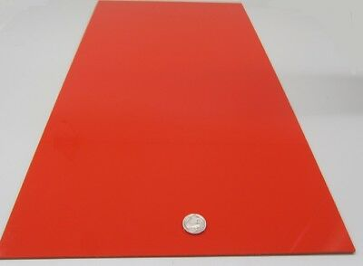 """2 Units 2662 Red Acrylic Sheet 1//8/"""" Thick 12/"""" x 24/"""""""