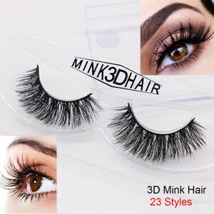 Skonhed-1-par-3D-minkhair-Pestanas-Postizas-Extension-de-maquillaje-de-ojos-lashs-largas-gruesas
