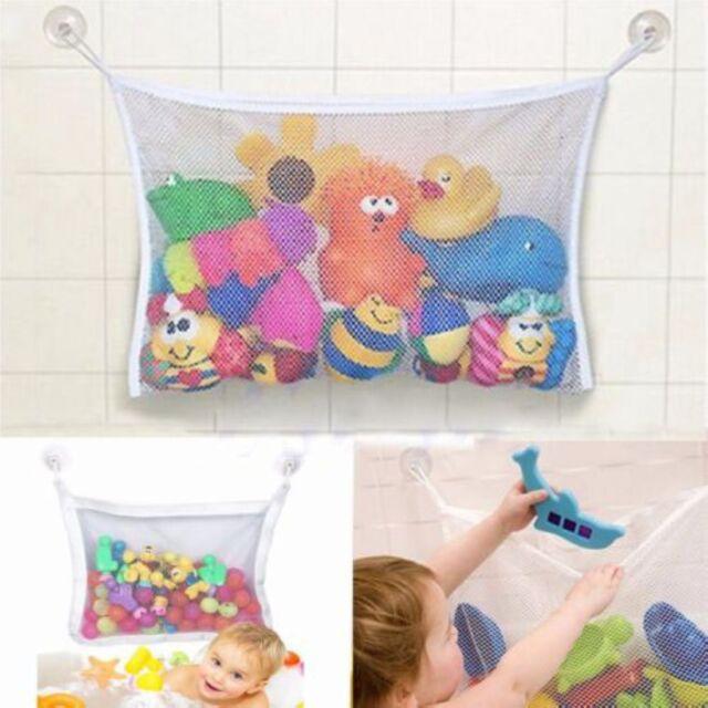Kids Net Bath Tub Toy Storage Bag Bathroom Mesh Organizer Suction Hanging