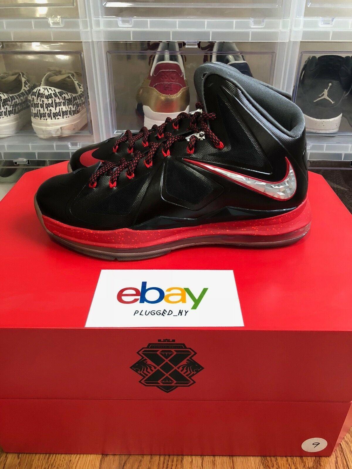 c6fa2db25d2 Nike Air Max Lebron X 10 Pressure Special Release Unknown New Sz 9 Miami  Unkwn nxdbnd1460-Athletic Shoes