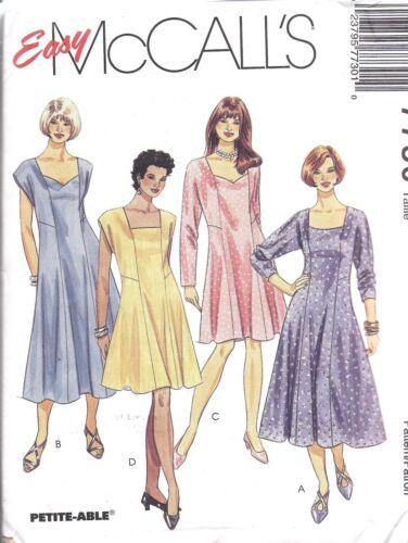 7730 Uncut Mccalls Vintage Sewing Pattern Princess Seamed Dress Oop