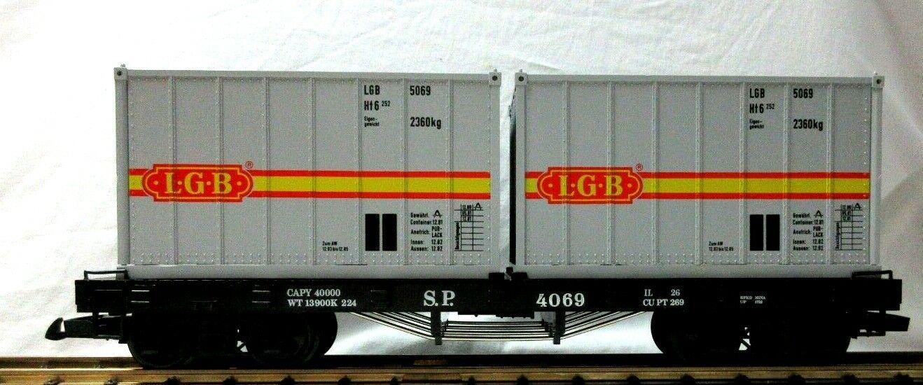 LGB 4069 S.P. plana coche con contenedores