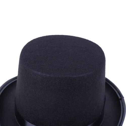 Black Top Hat Magician Costume Tuxedo Mat Hatter Wedding Christmas Party Form✔GB