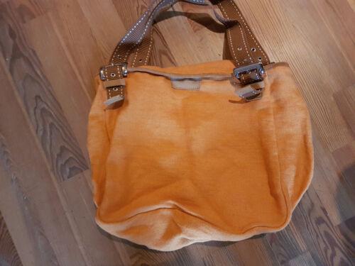 Nouveau Fabriqué Sac Avec Desmo Italie En Orange En Cuir Lin Marron 778rq1T