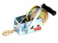2500lbs Dual Gear Steel Cable Hand Winch Hand Crank ATV Trailer Boat Heavy Duty