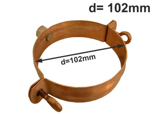 Kupfer Standrohrschelle mit Mutter M10 d=100mm Standrohr Schelle