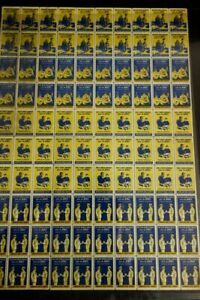 US-Stamps-WWII-Armed-Forces-Intact-Sheet-of-100