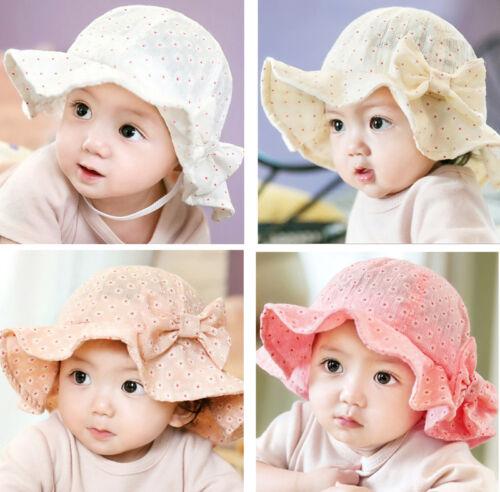 Girls Baby Hats Newborn Kids Bucket Floral Sun Hat Cap Beanie Bonnet Headwear