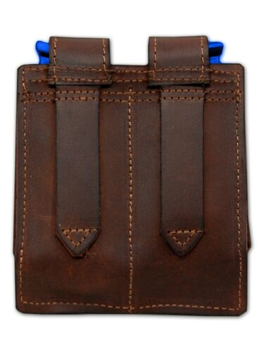 NEW Barsony Brown Leather Double Magazine Pouch Colt Beretta Full Size 9mm 40 45