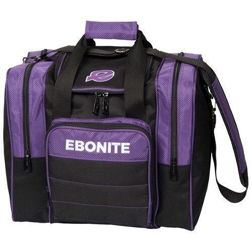 Ebonite Impact Plus Purple//Black 1 Ball Bowling Bag