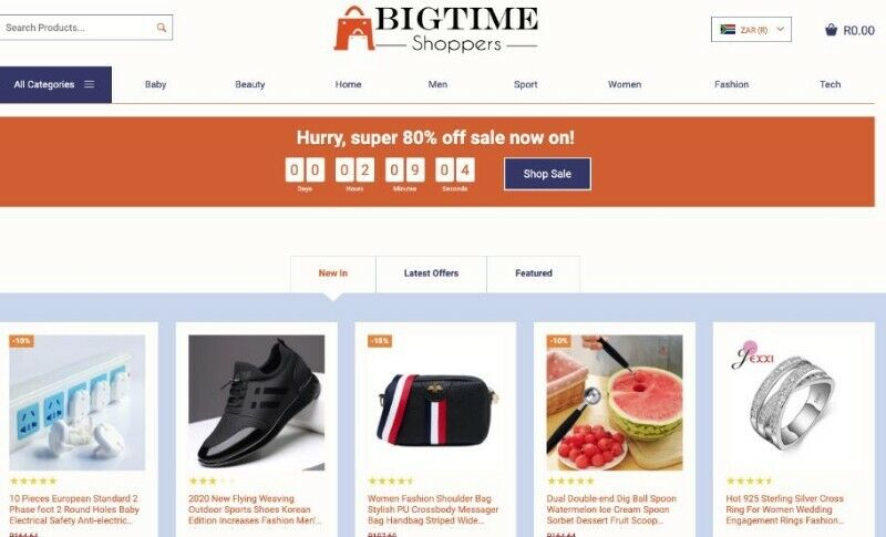 Big Time Shoppers Store for sale