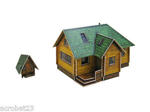 Details about Building SUBURBAN HOUSE HO Scale 1/87 Railway Train Model Kit  Cardboard