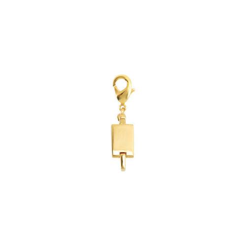 Vermeil Gold Magnetic Clasp Converter For Necklaces Bracelets 19 x 7.3 x 4.2 mm