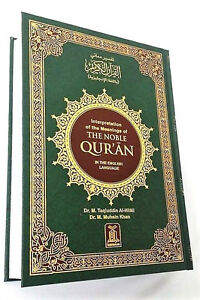 The-Quran-The-Noble-Quran-Arabic-Text-English-Translation-Large-HB-White-pages