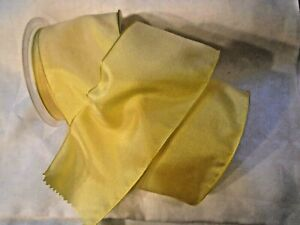 2-5-8-034-FRENCH-COPPER-WIRED-TAFFETA-RIBBON-SUNSHINE-YELLOW-BY-THE-YARD