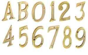 6 Numeral De Latón Con Tornillos De 75 Mm
