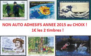 gt-Tous-vos-Timbres-France-Obliteres-Annee-2015-Nouveautes-Recents-1-les-2-lt