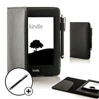 Leder Schwarz Smart Schutzhülle für Amazon Kindle Paperwhite 2015 + Stift
