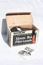 WATSON No.100 35mm daylght bulk film loader WITH unknown quantity 20 ASA film