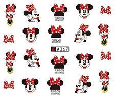 Nail Art de transferencia de agua Pegatina Calcomanías Pegatinas Minnie Mouse (A-367)