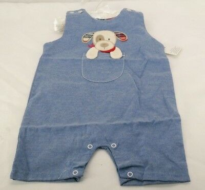 Maison Chic Max the Puppy Sunsuit Romper  0-6 or 6-12 Months