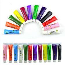 12 Colors Painting gel Acrylic 3D Nail Art Paint Tube Draw Nail Art Tip UV Gel