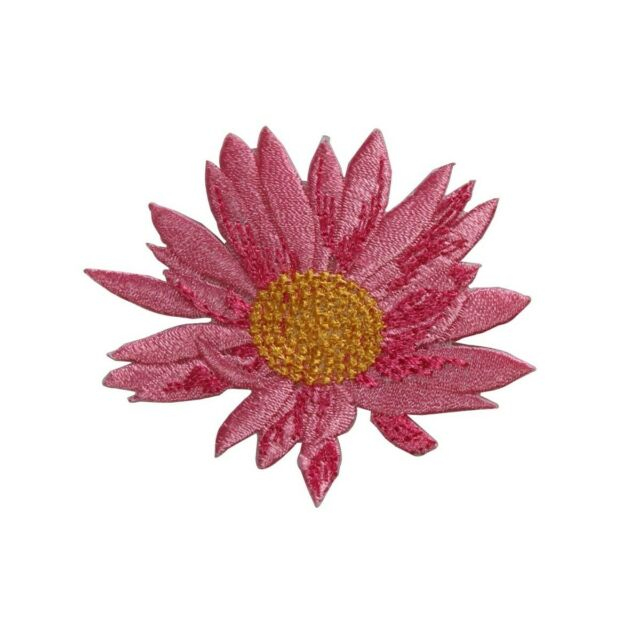 Set Of 2 Pond Flower Pink Embroidered Iron On Applique Patch Garden