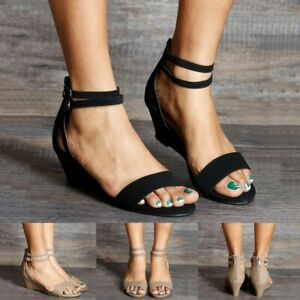 Womens-Casual-Trim-Wedge-Zipper-Buckle-Ankle-Strap-Open-Toe-Sandals-Summer-Shoes