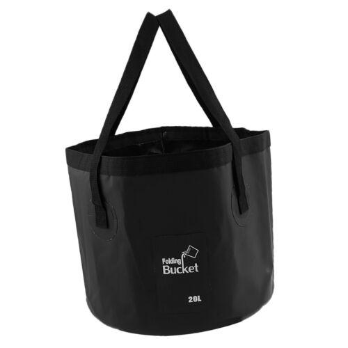 12L//20L Portable Folding Camping Fishing Water Pot Bag Washing Basin Bucket