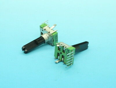 2 x 12mm Alpha B20K 20K Linear Taper Potentiometer Dual Gang With Cente Detent