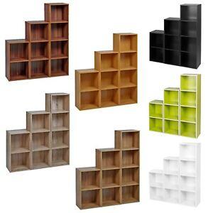 2-3-4-Tier-Wooden-Bookcase-Shelving-Display-Shelves-Storage-Unit-Wood-Shelf-Cube