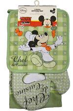 Disney Mickey Chef de Cuisine Kitchen Towel Set [3-Piece Set]