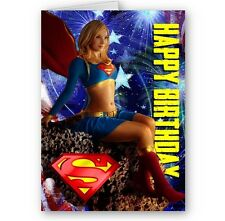 Supergirl A5 Happy Birthday Card with Envelope