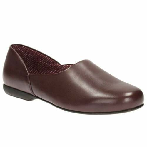 Clarks Mens wine real leather slippers 7-11 G New witout box