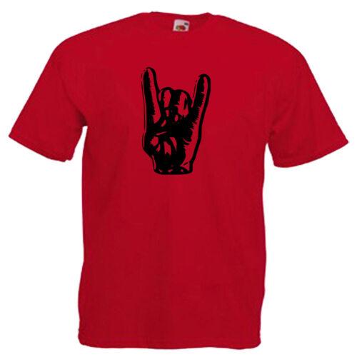 Devils Horns Rock Music Children/'s Kids T Shirt
