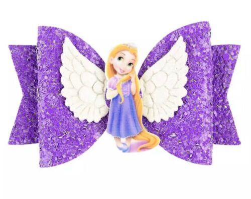 New Disney Princess Hair Bow Shiny Tangled  Princess Rapunzel Purple Sparkle