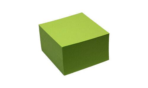 80 g//qm 90 x 90 mm K/&L Zettelwürfel lindengrün