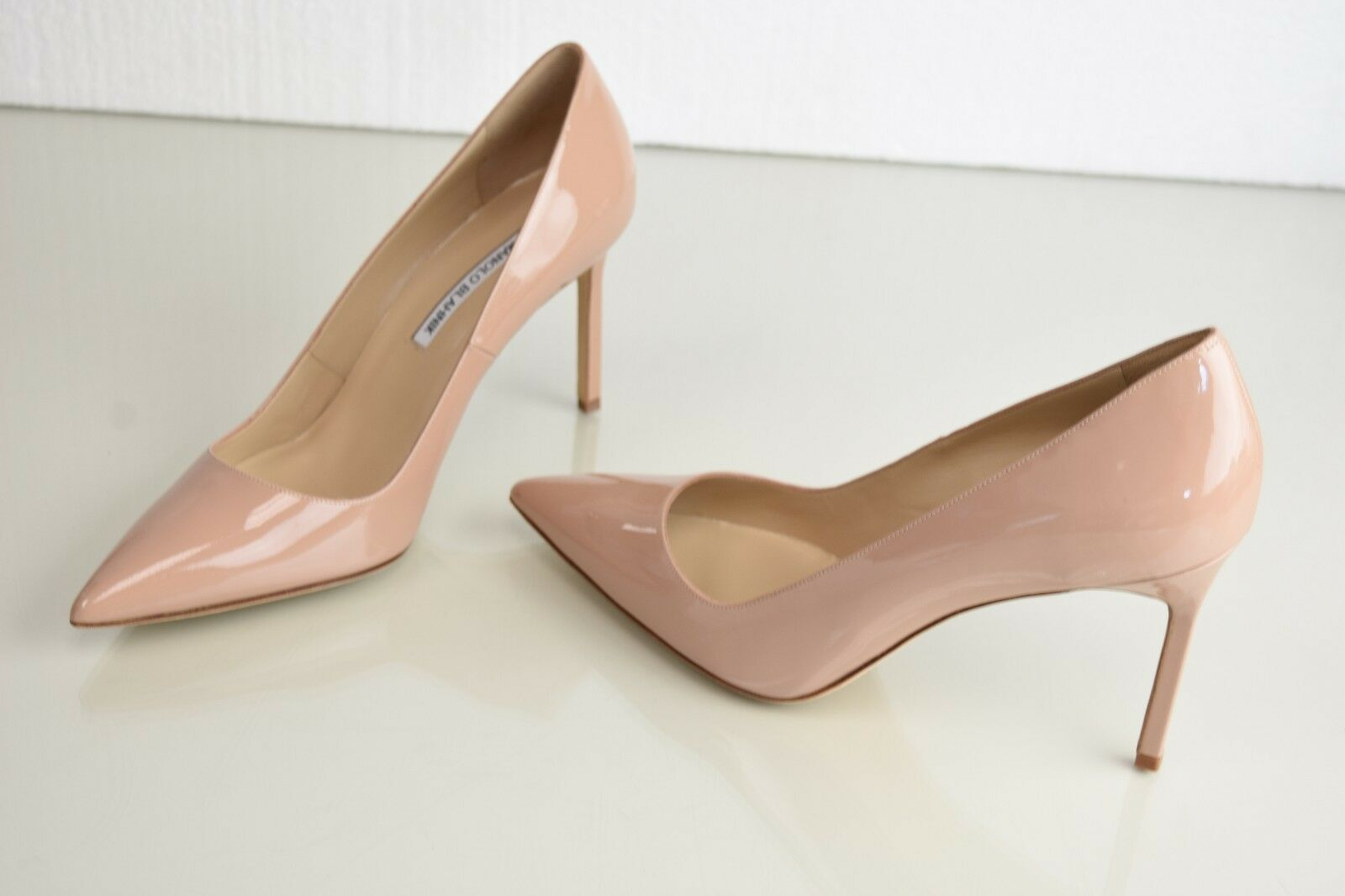 New Manolo Blahnik Stabipla 90 BB pumps Nude schuhes Patent  Leder Heels schuhes Nude 40.5 92dacc