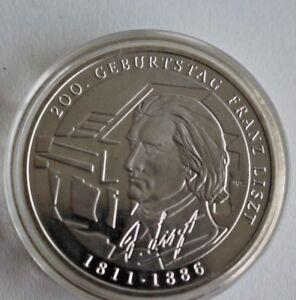 Silbermünze Brd Deutschland 10 Euro 2011 200 Geburtstag Liszt