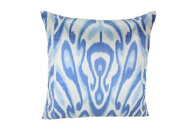 Ikat Pillow Cover 20inches x 20inches Cover Only with No Insert Blue