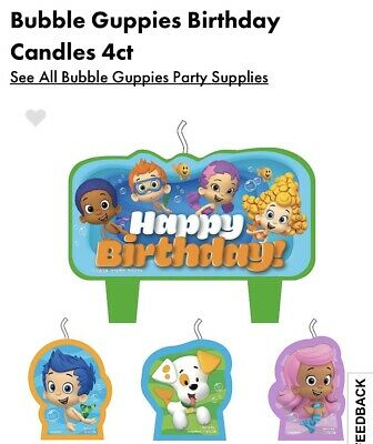Awesome Bubble Guppies Birthday Candle Set Cake Toppers Decorations Party Personalised Birthday Cards Veneteletsinfo