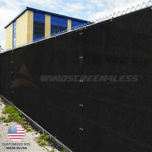 Customize 4'FT Privacy Screen Fence Black Commercial Windscreen Shade Cover1-160