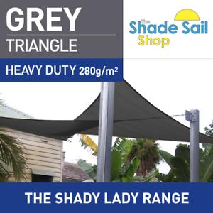 Triángulo gris 3 M x 3 M x 3 M Sombra Vela Sun Heavy Duty 280GSM gris al aire libre