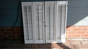 Image Is Loading Vintage Interior White Wood Louver Shutters 16 034