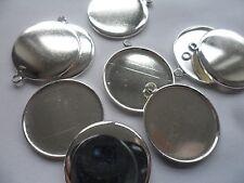 10 x 12mm Plain Silver Earring/Pendant Settings bases bezels 14x2mm.12mm tray