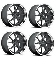 "20"" inch 20x9 20x10.5 adventus avs3 black custom staggered wheels rims lexani"