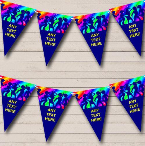 Party Banner Bunting 60/'s 70/'s 80/'s Disco Retro Rainbow Personalised Birthday